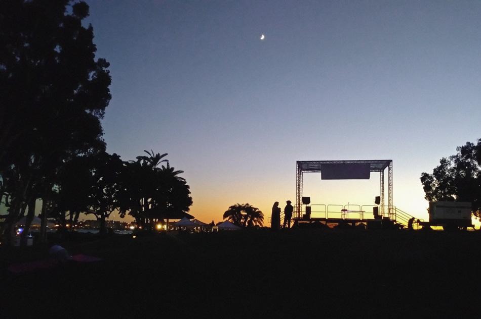 zachód słońca w San Diego