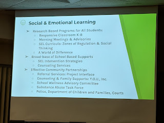 social emotional learning, ties back to the Maslow points earlier