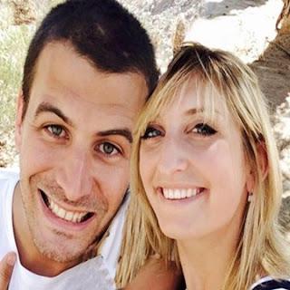 Timea with her boyfriend Andreas Blattner