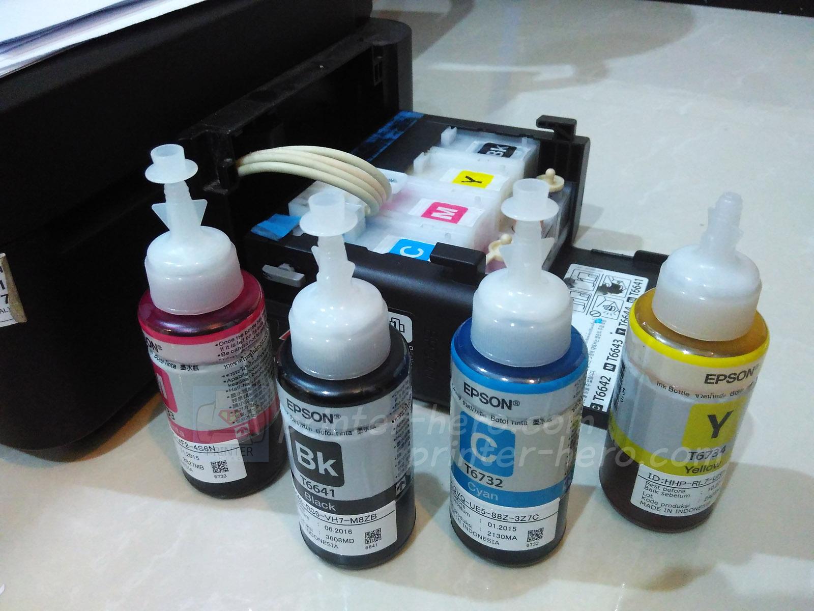 Kode Serial Number Tinta Epson L Series Printer Heroes T664 L100 L110 L120 L200 Lseries Berada Pada Botol Original Tersebut Biasanya Di Bagian Belakang Dengan Tulisan