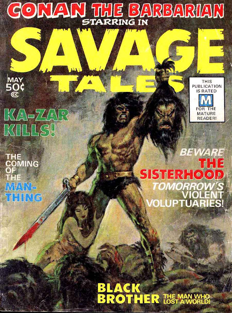 Savage Tales v1 #1, 1971 marvel bronze age magazine cover - 1st Man-Thing