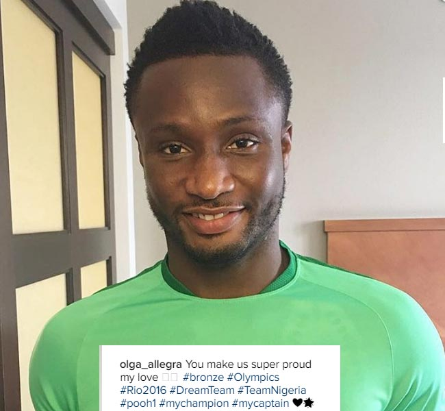 John Mikel Obi's baby mama congratulates him over Eagles' Olympics bronze medal