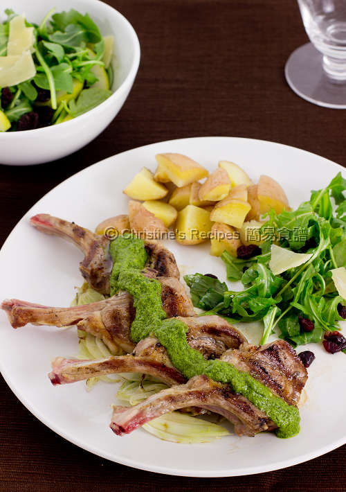 煎羊扒配羅勒青醬汁 Lamb Cutlets with Pesto Sauce01