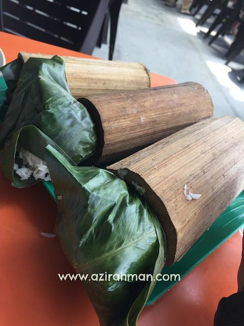 tahun melawat perak 2017, tempat makan sedap, nasi bamboo sg klah,
