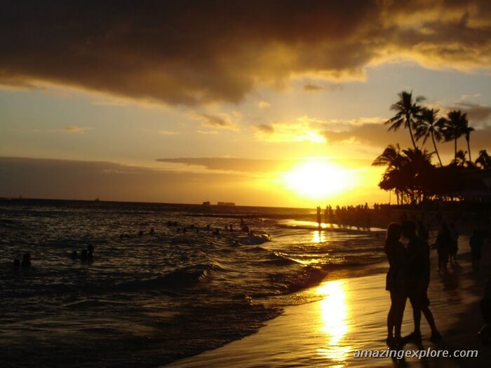 The Best Spots of Sunsets on Oahu-By Cumulus Clouds. Best Honolulu-Oahu Attractions - Things to Do in Honolulu-Oahu