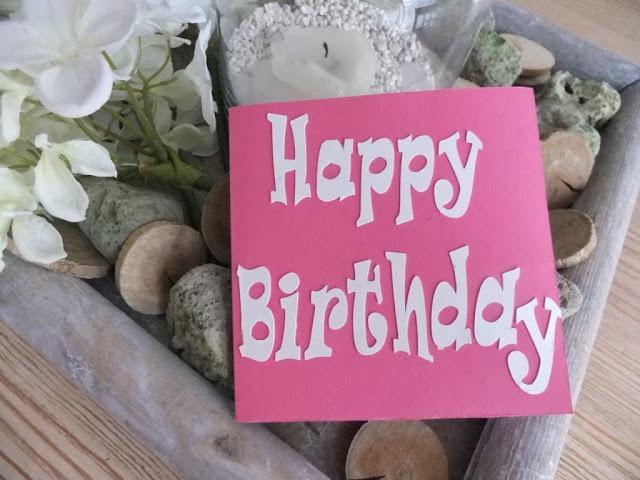 Geburtstagskarte mit Plotter