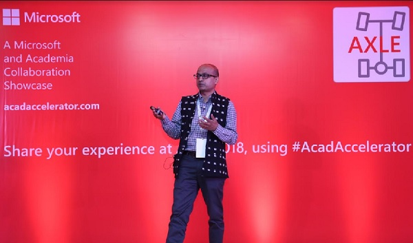 Hyderabad, Microsoft India, Microsoft AXLE 2018, academia collaboration, Microsoft Academia Accelerator program