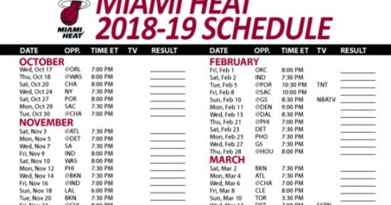 photograph regarding Miami Heat Printable Schedule known as Miami Heats Timetable Wallpapers Box