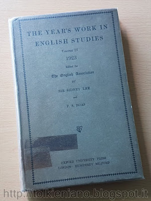 Philology: General Works, (I) di Tolkien in The Year's Work in English Studies, 1923
