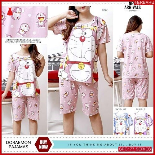 SPC177D73 Doraemon Pajamas 3 Celana Baju Tidur Wanita | BMGShop