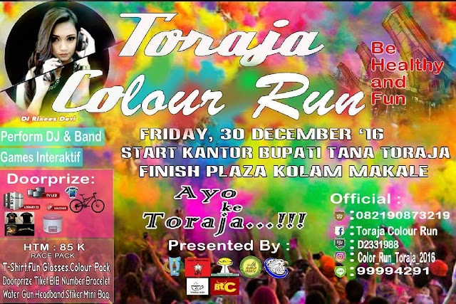 Warna-Warni, Toraja Colour Run 2016