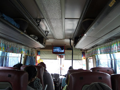 the bus from Phnom Penh to Kampot