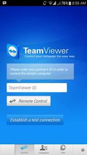 tampilan id teamviewer