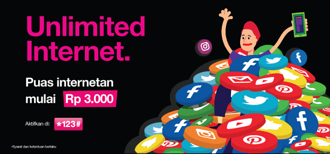 paket internet 3 unlimited tanpa quota
