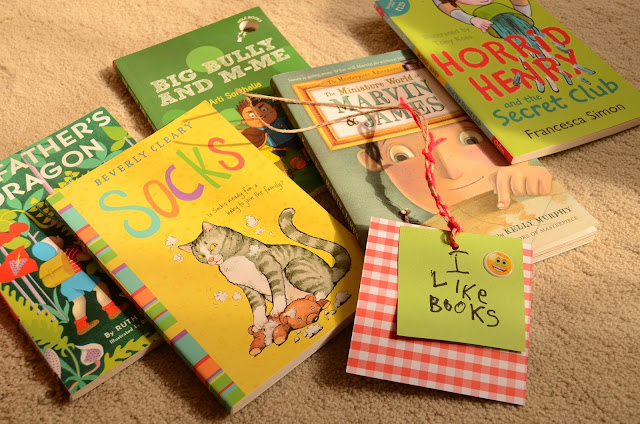The Practical Mom: Wondering What to Read Aloud Next? How about Baby Dragons, Granny's Glasses & Horrid Little Boys? (+Scrap Paper Bookmarks!)