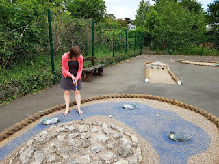 Crazy Golf at Promenade Recreation Park in Grange-over-Sands, Cumbria