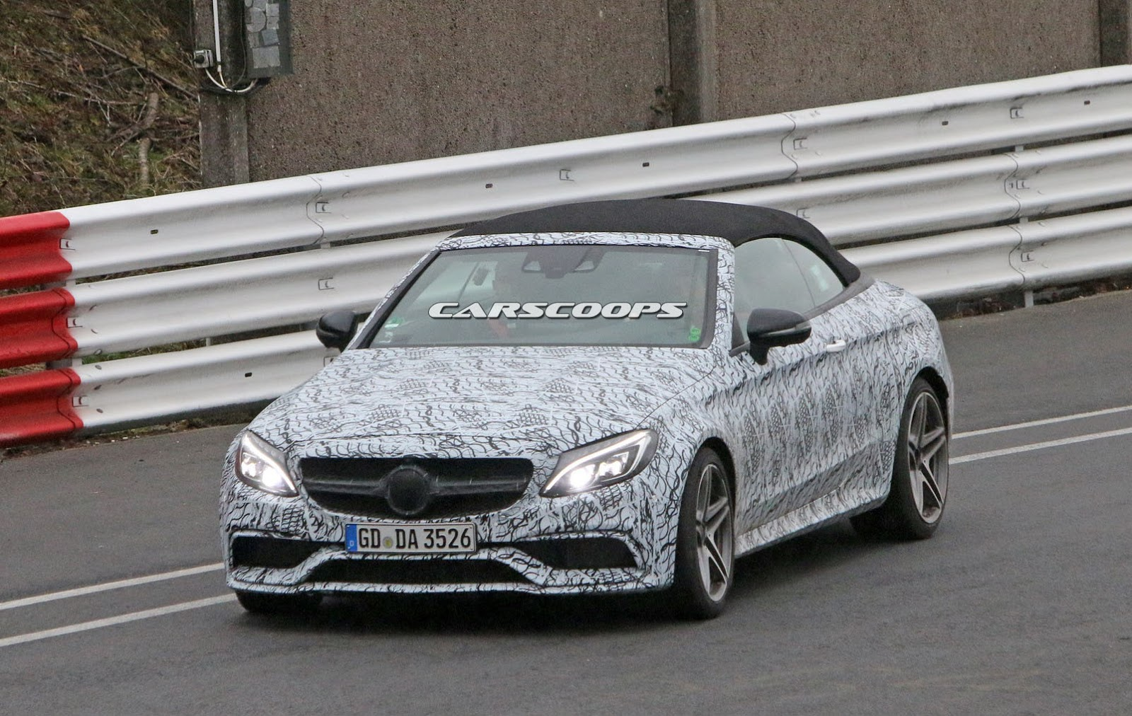 New Mercedes Amg C63 S Convertible Spied Blasting Its 503
