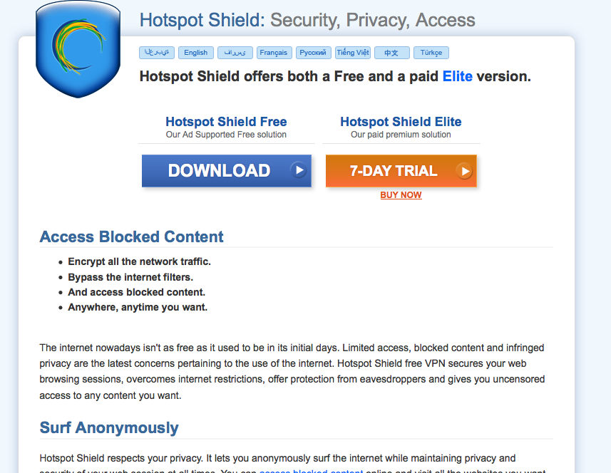 How to access blocked websites with hotspot shield tech hapa go to hotspotshield and download the app ccuart Image collections