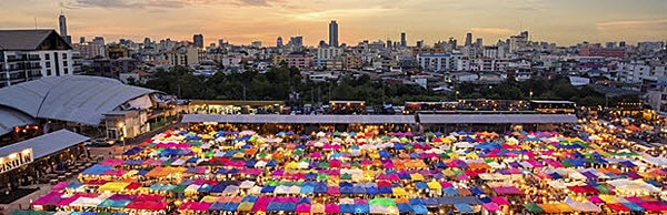 Bangkok local night bazaar