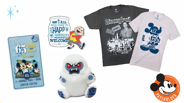 Disneyland Park 65th Anniversary Annual Passholders, Disney Parks Wishables plush of the Abominable Snowman the Matterhorn Bobsleds attraction Merchandise Online