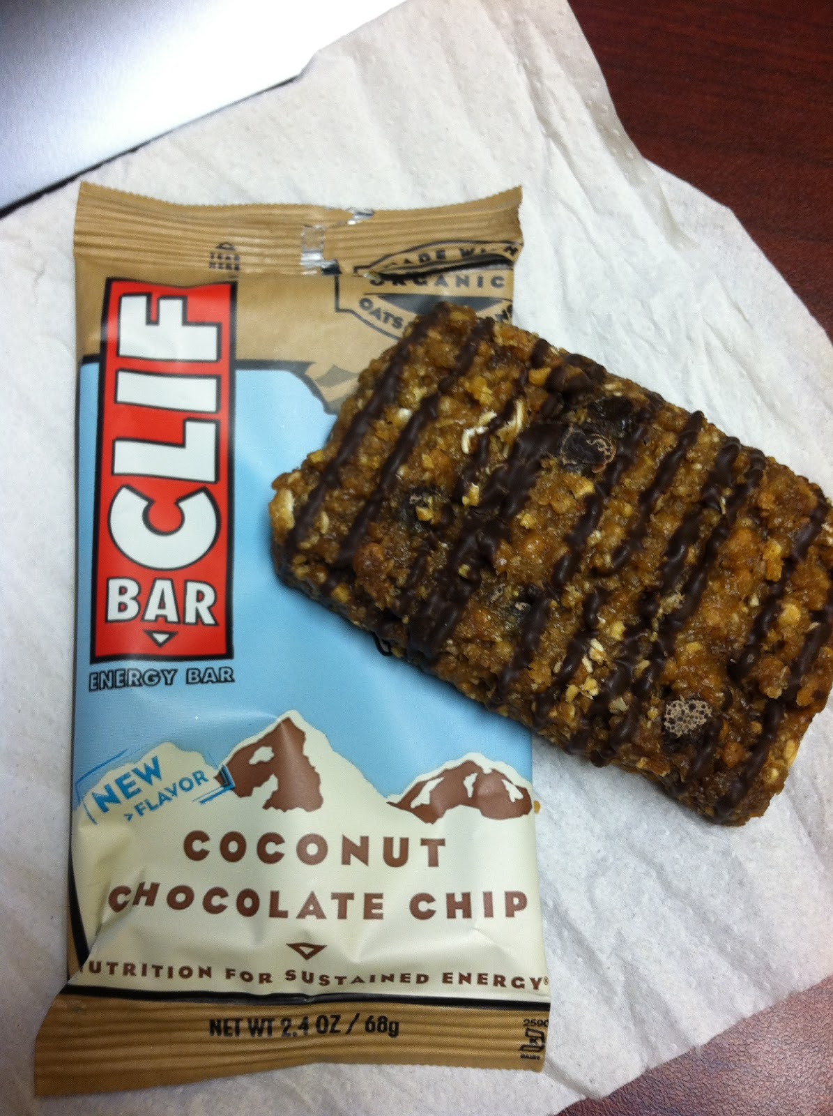 7efe77417 LIVE A LITTLE SUNSHINE  Clif Bar - Coconut Chocolate Chip   OH MY!