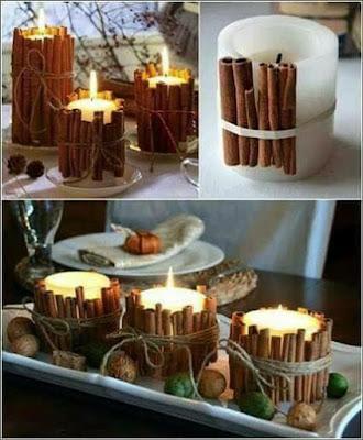 Porta velas hermosos para la mesa