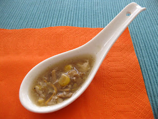 Sopa China de Jamon, Maiz y Huevo
