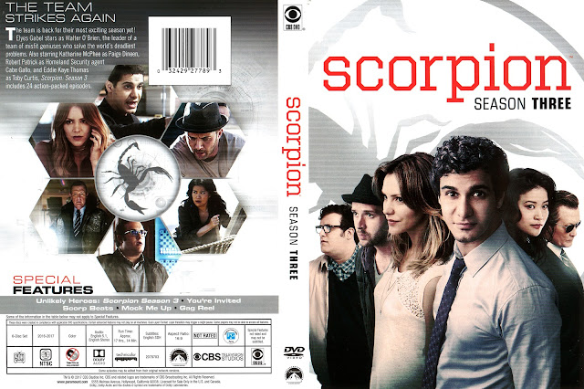 Scorpion Season 3 DVD Cover
