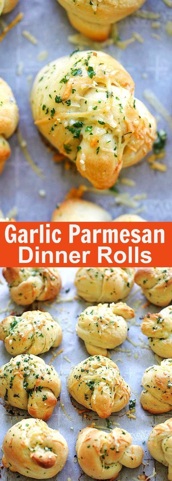 Garlic Parmesan Dinner Rolls Recipe