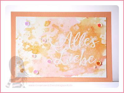 Stampin' Up! rosa Mädchen Kulmbach: Geburtstagskarte im Aquarelllook mit Grüße rund ums Jahr