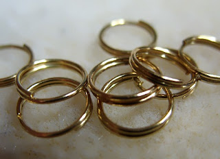 metal rings gold plated