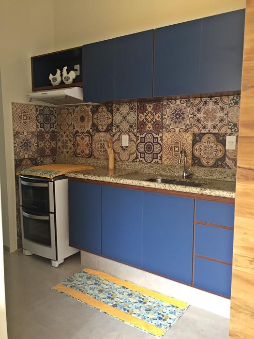 cozinha planejada azul