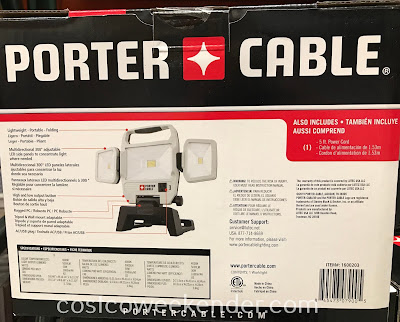 Costco 1600203 - Porter Cable Portable Corded LED Work Light: perfect for any workshop or garage