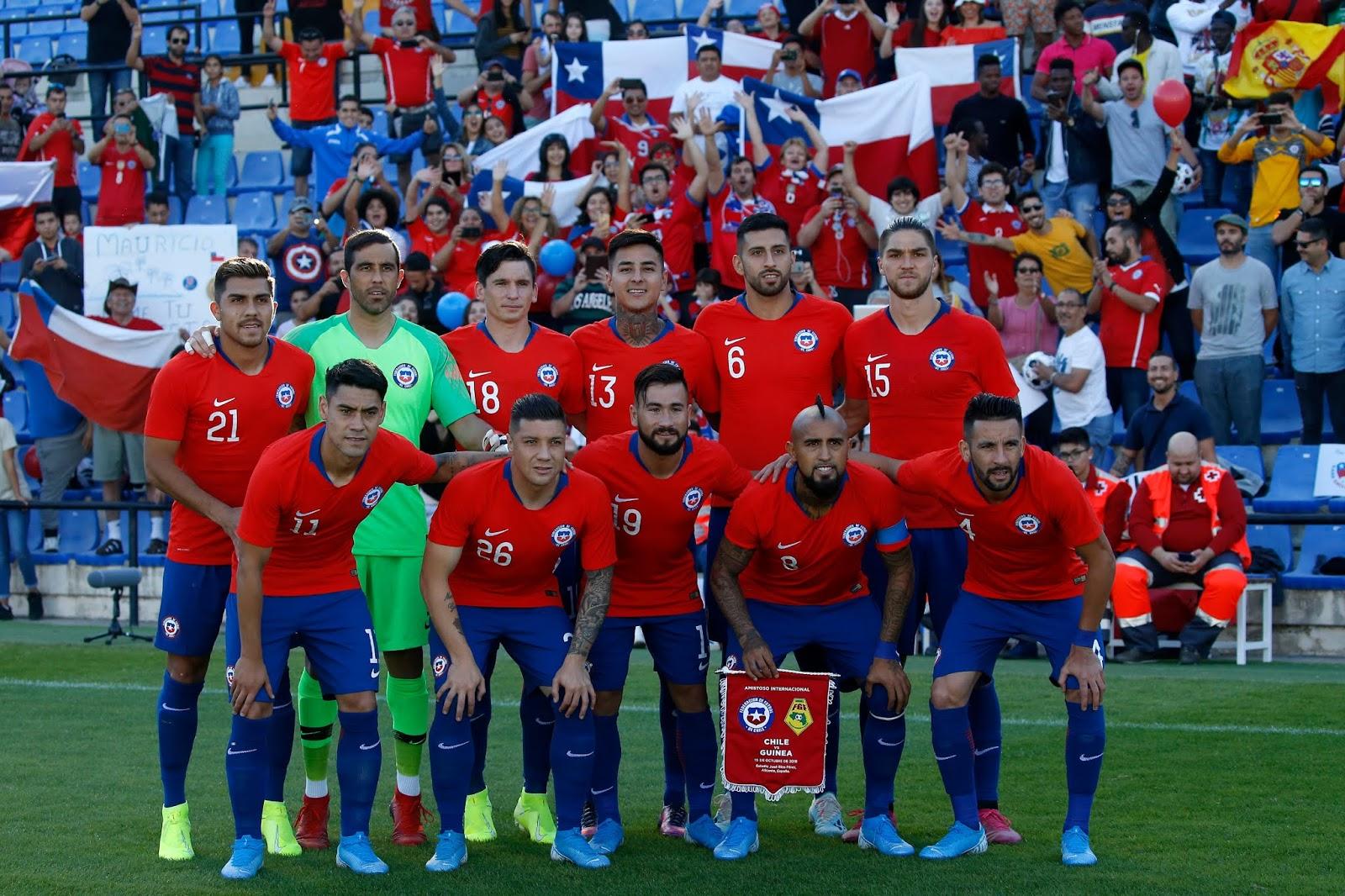 Formación de Chile ante Guinea, amistoso disputado el 15 de octubre de 2019
