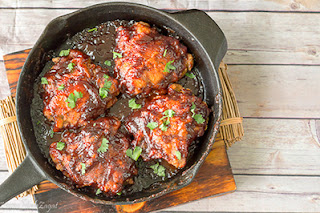 Sticky BBQ Jerk Chicken