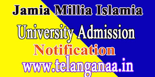 Jamia Millia Islamia Ph.D-2016 Admission Notification