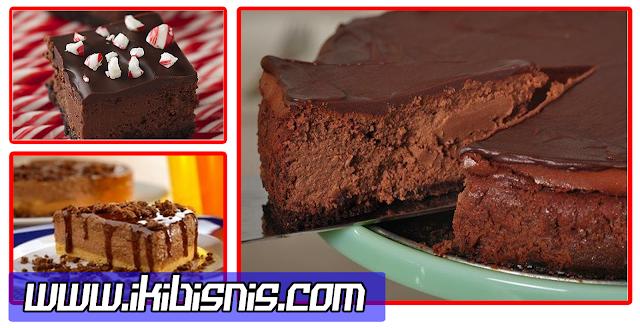 Resep Cara Membuat Kue Natal Christmas Chocolate Cheesecake