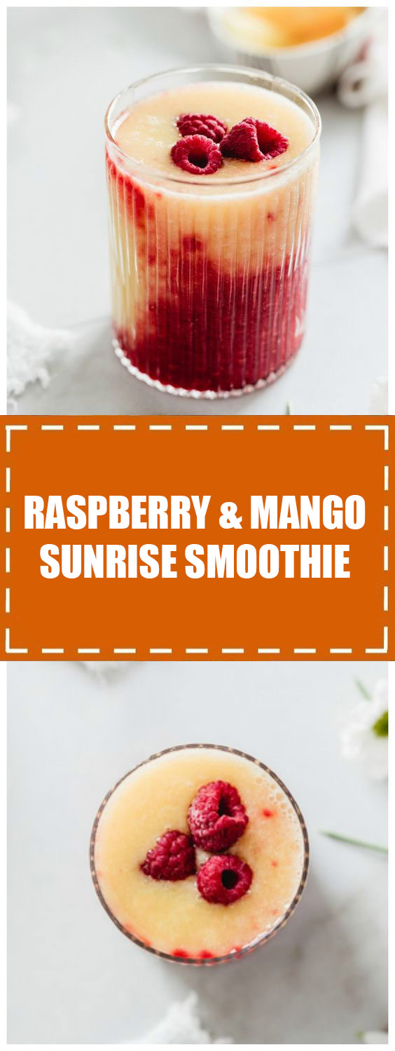 Raspberry & Mango Sunrise Smoothie
