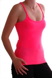Neon 80s Pink Vest Top for Women