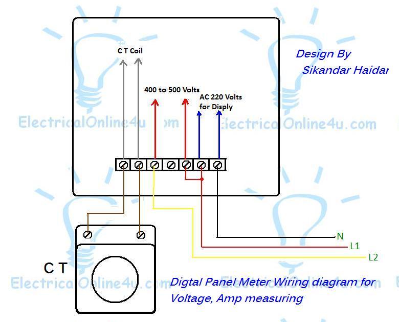 diagram ac panel ammeter wire diagram full version hd