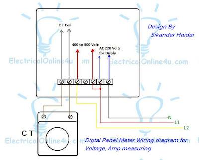 voltmeter ammeter hz meter wiring diagram
