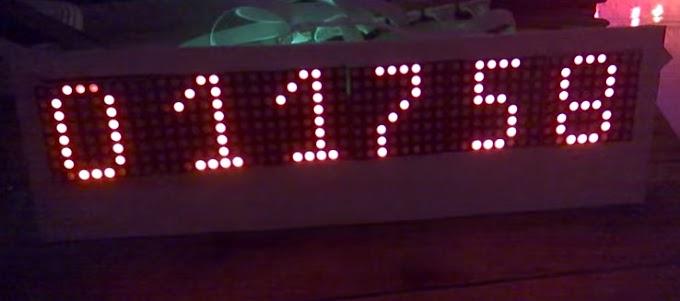 Mạch đồng hồ led Matrix Giờ : Phút : Giây