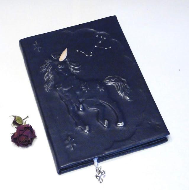Датированный ежедневник кожа Единорог - подарок девушке. Ручная работа, на заказ. Доставка почтой или курьером