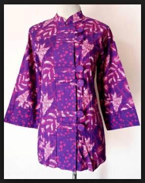 Model baju batik wanita atasan kantor