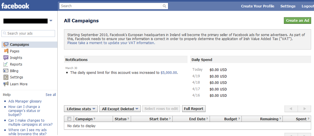 Facebook Ad Activated Account: Facebook marketing tools and