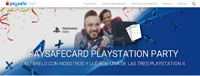 paysafecard gana 3 consolas PS4 Y 100 PIN 25 euros 9-21 febrero