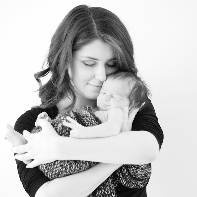 mother and newborn baby photoshoot