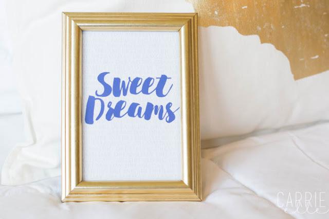 sweet dreams printable art