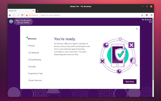 Tor browser 8.0 onboarding