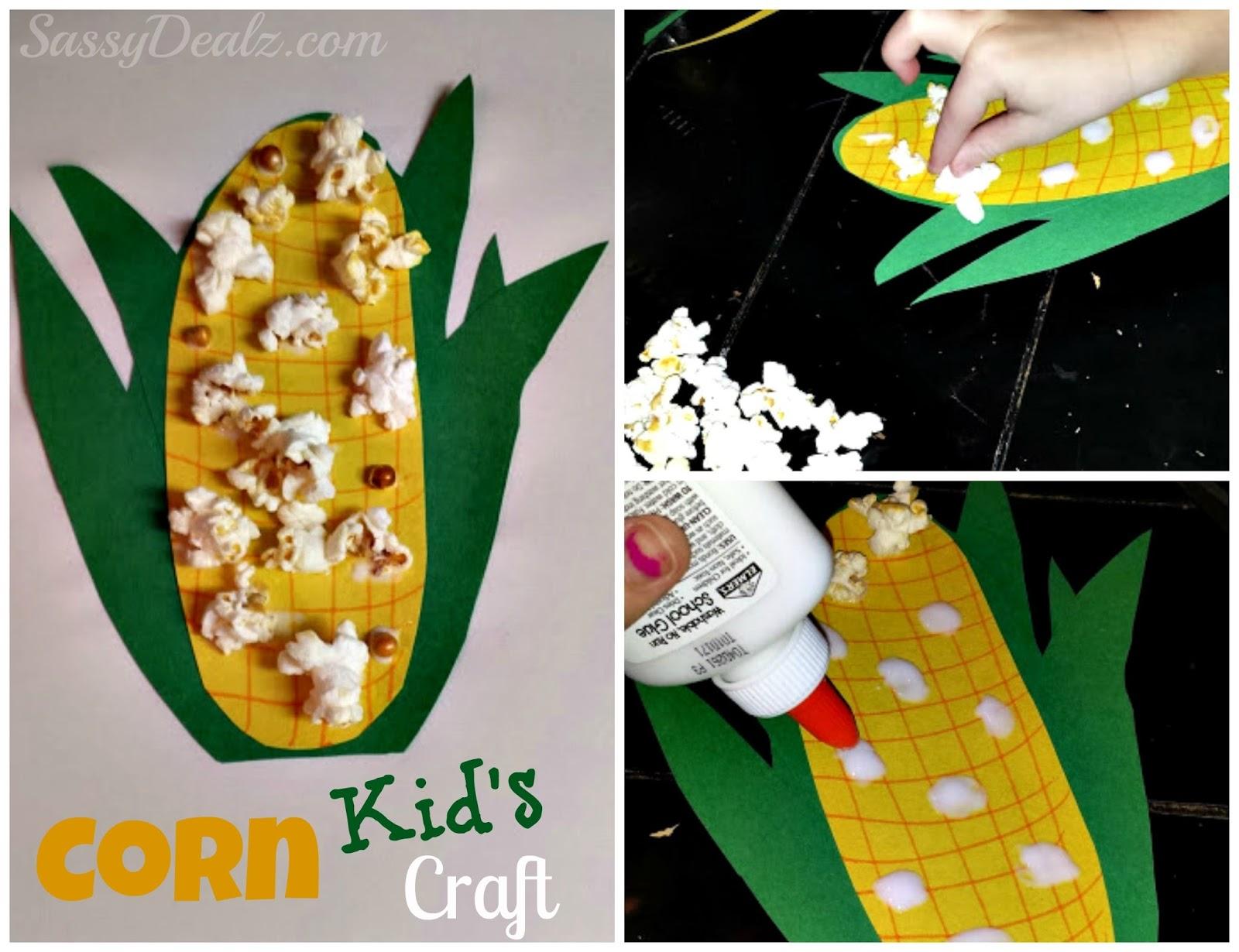 Diy Easy Corn Craft For Kids Using Real Popcorn